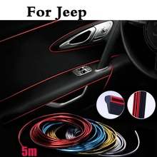 car styling Car Interior Grille Mouldings Trim Decorative Strip Line stickers for Jeep Liberty Renegade Wrangler Commander