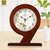 European Style Clock Wooden House Creative Desk Bracket Clocks Table Quartz Watch Relogio De Mesa House Decoration WKJ015
