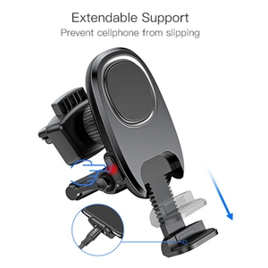 Image 4 - Metrans Universal Magnetic Car Phone Holder For iPhone 360 Rotation Air Vent Outlet Car Phone Mount Stand Holder telefon tutucu