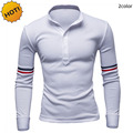 New 2016 Summer Long Sleeve shirt V-neck Collar Men Polo shirt Leisure Dress Sportswear England Style Brand Clothing Homme