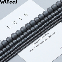 WLYeeS Polish Round Beads Matte Black Natural Hematite Stone 2 3 4 6 8mm Ball Spacer Loose Beads for DIY Jewelry Bracelet Making btfbes 200pcs stainless steel 3 4 5 6 8mm spacer beads round ball metal loose beads for jewelry bracelet making diy accessories