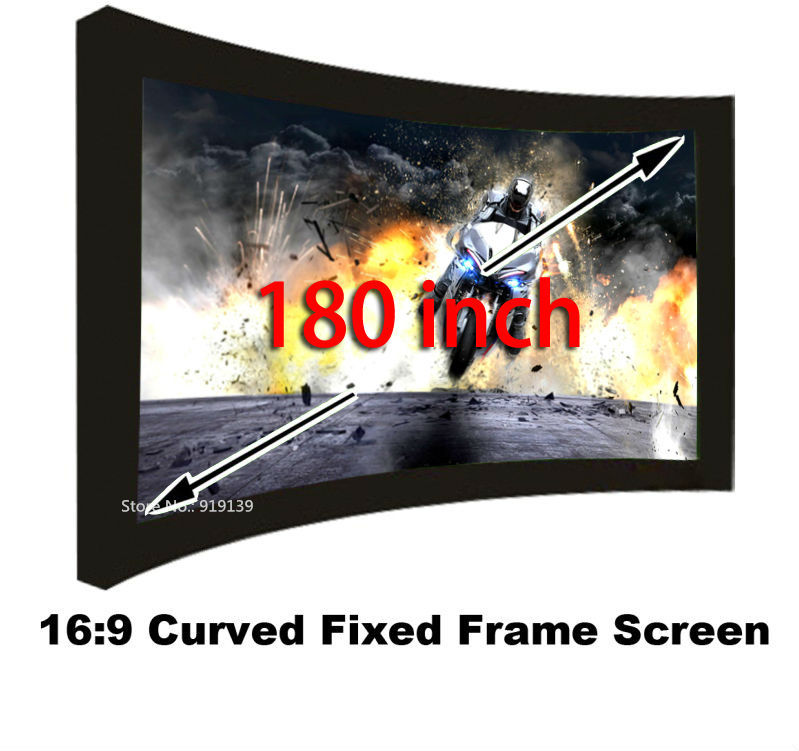 High Quality 3D Projection Screen Fabric 180 Inch Best Choice For Cinema Theater Room Projector Screens 16:9 Fast Shipping low price 92 inch flat fixed projector screen diy 4 black velevt frames 16 9 format projection for cinema theater office room