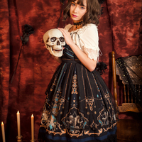Gothic Lolita Victorian Dress Short Sleeve Tea Party Outfit Halloween Costume for Girls Women Kawaii Medieval Dresses Plus Size