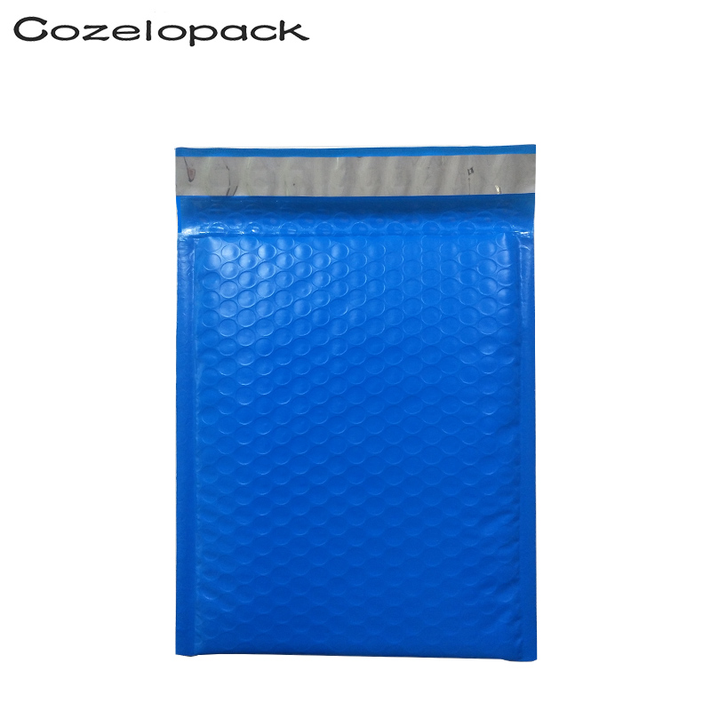 10PCS #000 4x8inch Blue Poly Bubble Mailer Padded Envelope 12x18cm Self Seal Mailing Bag Bubble Envelope Shipping Envelope