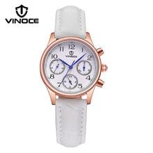 Vinoce модные женские часы люксовый бренд водонепроницаемый календарь дисплей Золотой Пояс часы шесть-контактный моды Relogio v6252L