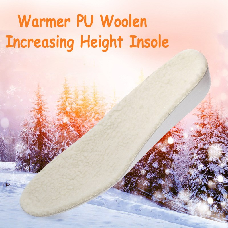BSAID Height Increase Fur Insoles, DIY Cut Winter Keep Warm Thick Breathable Soft Wool Shoe Insole, Quality Unisex Men Women bsaid height increasing fur insoles diy cut winter keep warm thick breathable soft wool shoe insole men women height increase