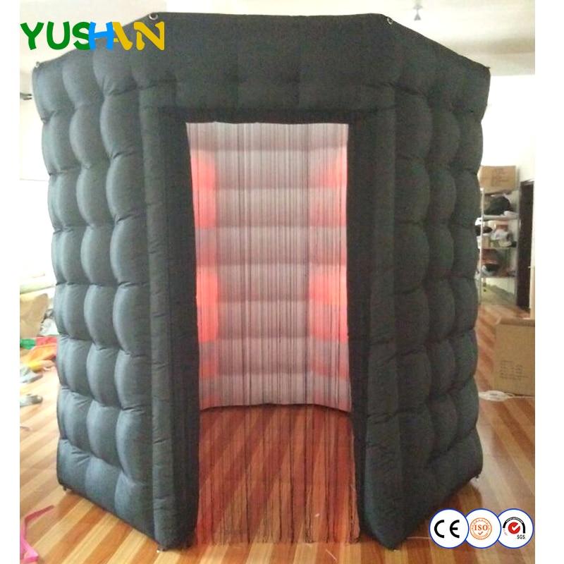 La LED allume la cabine de photo octogonale avec la tente portative de cabine de Photo de toit avec le support démontable de toile de fond de rideau de gland pour l'événement de partie