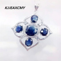KJJEAXCMY Boutique Jewelry Female Sapphire Classic 925 Sterling Silver Pendant Diamond Platinum Plated Sterling Silver