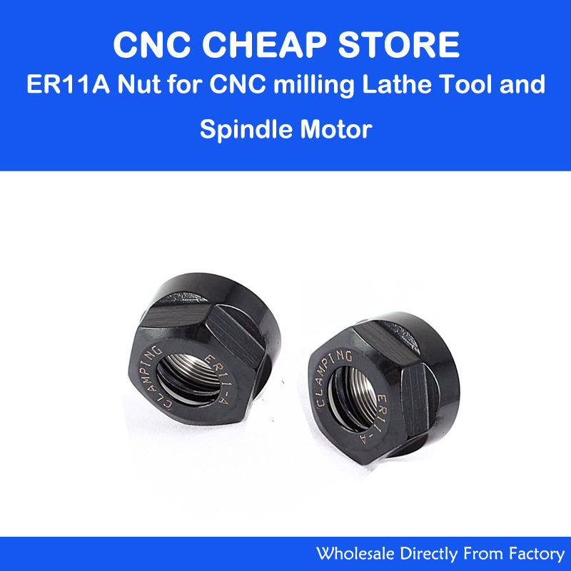 2PCS ER11A Clamping Collet Nut For CNC Router Milling Engraving Chuck Lathe Tool ER11 End Mill Engraver Collet