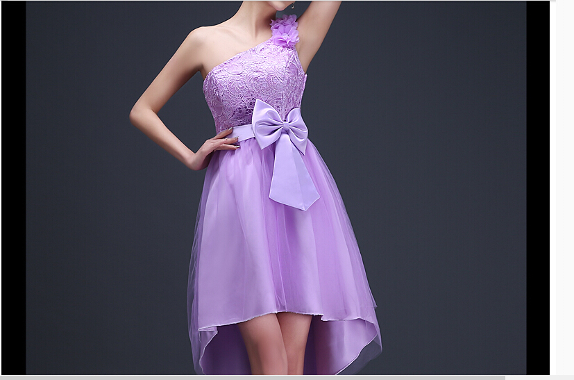 2017 free shipping  homecoming Ball gowns Formal MJ768 One-shoulder Short  Evening dresses vestidos de festa Robe de soiree