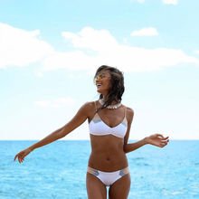 2019 Summer Women Two Pieces Bikini Set Push Up Swimwear Swimsuit Bathing Suit Female M111