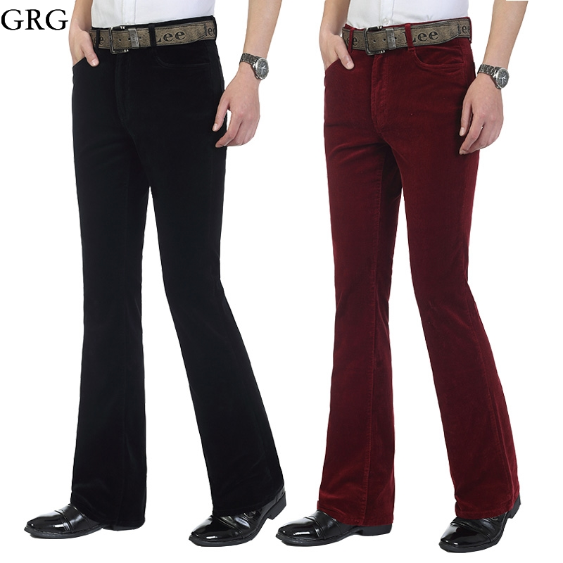 Pants Flares Corduroy Trousers Business Candy-Color Male Men's Casual Autumn Mid Boot-Cut