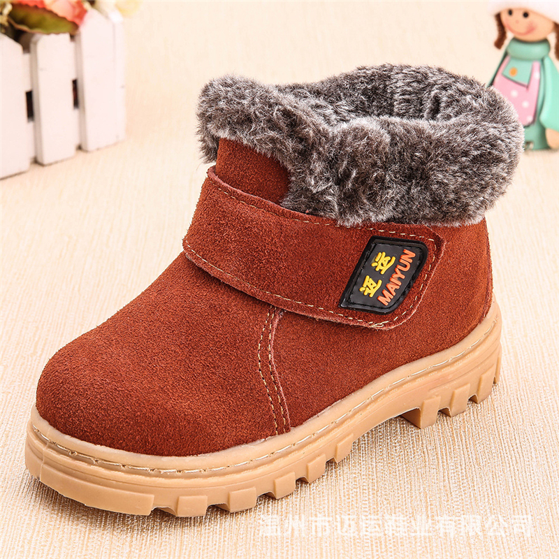 2017 new winter children's genuine leather boots boy and girls winter footwear,kids sneakers brand child ankle shoes martin boot