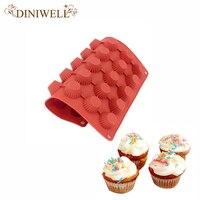 DINIWELL 30 Agujeros de la Forma Redonda Molde de Pastel de Silicona 3D Hecho A Mano Cookies Mini Muffin Jabón Pudín de La Jalea de la magdalena Molde de Cocción BRICOLAJE herramientas