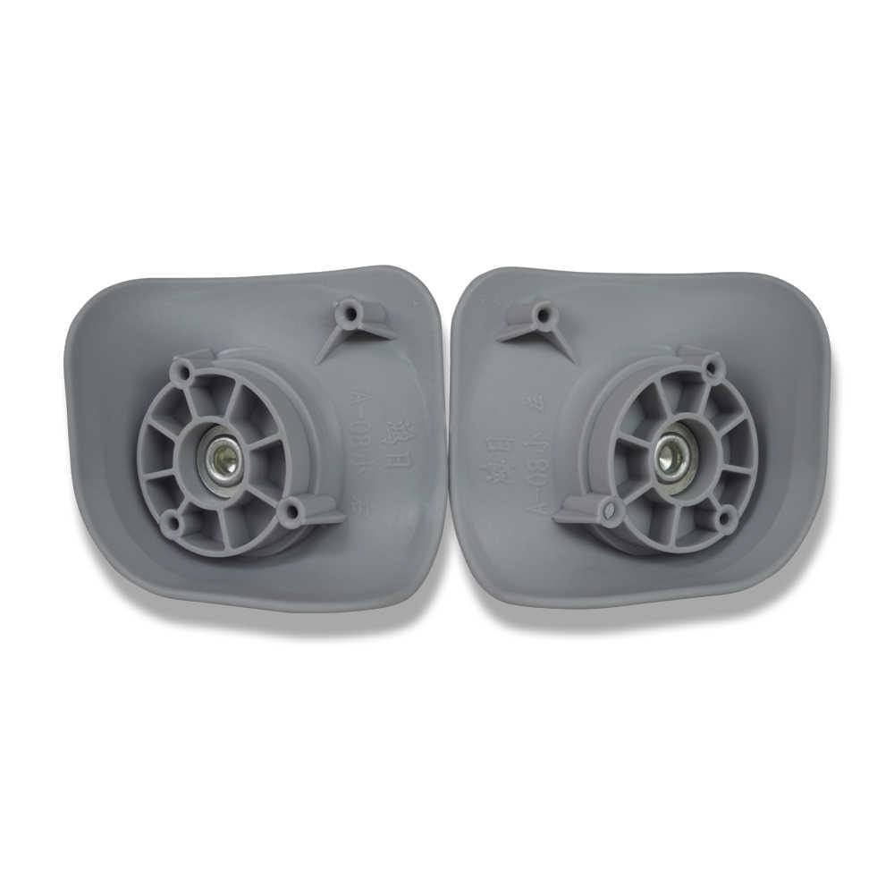 Rodas Do Rodízio Giratório bagagem Rodas de Substituição para Reparação Mala Mão Trole Peças De Substituição de Borracha A08-JYFJL