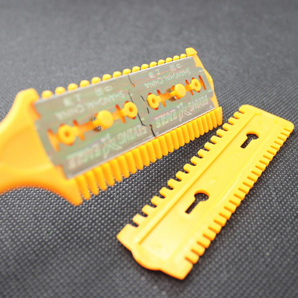 2018 Fashion 1PC Double-sided Blade Knife Hair Comb Scissors Professional Barber Razor Magic Hairdressing Scissors Beauty Decor