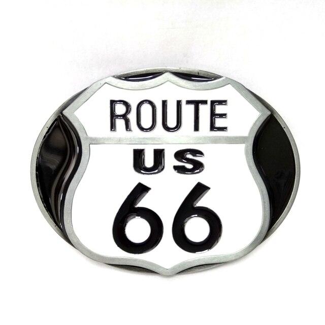Us Route 66 Logo Metalen Gesp Heren Big Gesp Voor Riem Accessoires
