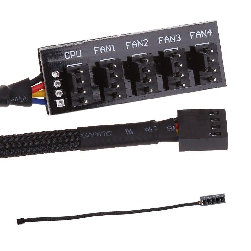 39.5cm 1 do 5 4-pin Molex TX4 PWM chłodnica procesora/etui/podwozia wentylator chłodzący kabel zasilający adapter do rozgałęźnika