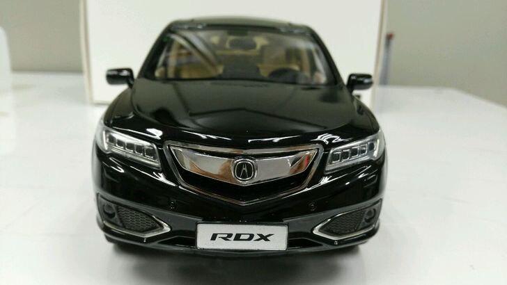 * Black 1:18 Honda Acura RDX 2016 Luxury SUV Diecast Model Show Car Miniature Toys Alloy Gifts Collection Minicar