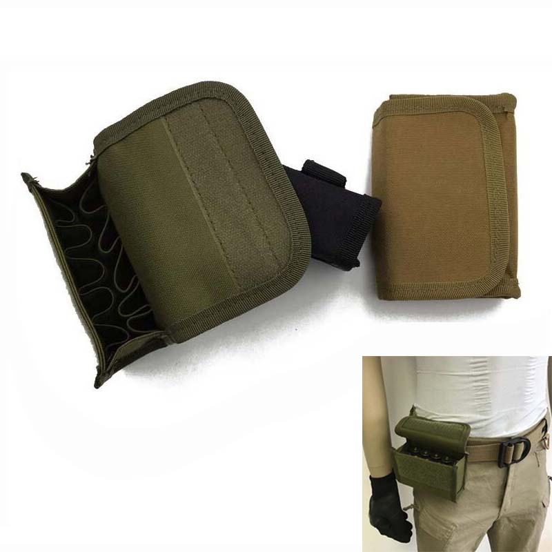 Nylon Military Tactical MOLLE Waist Bullet Bag Outdoor Hunting Shooting Magazine Pouch 10 Hole With Tactical Vests Or Backpacks