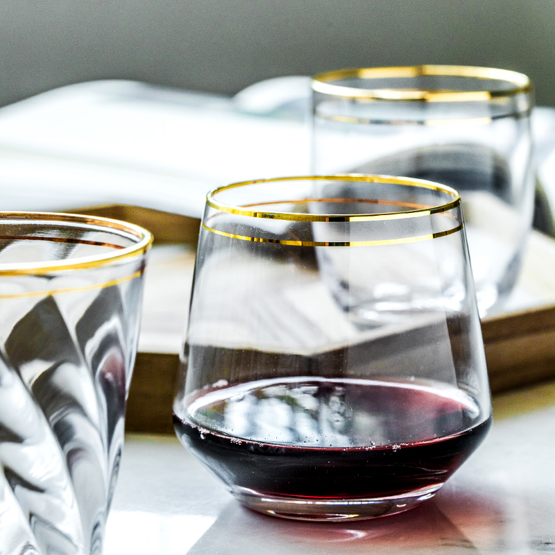 Creative Phnom Penh glass coffee cup heat resistant glass tea cups wine glass living room cups home bar cafe Drinking utensils in Wine Glasses from Home Garden
