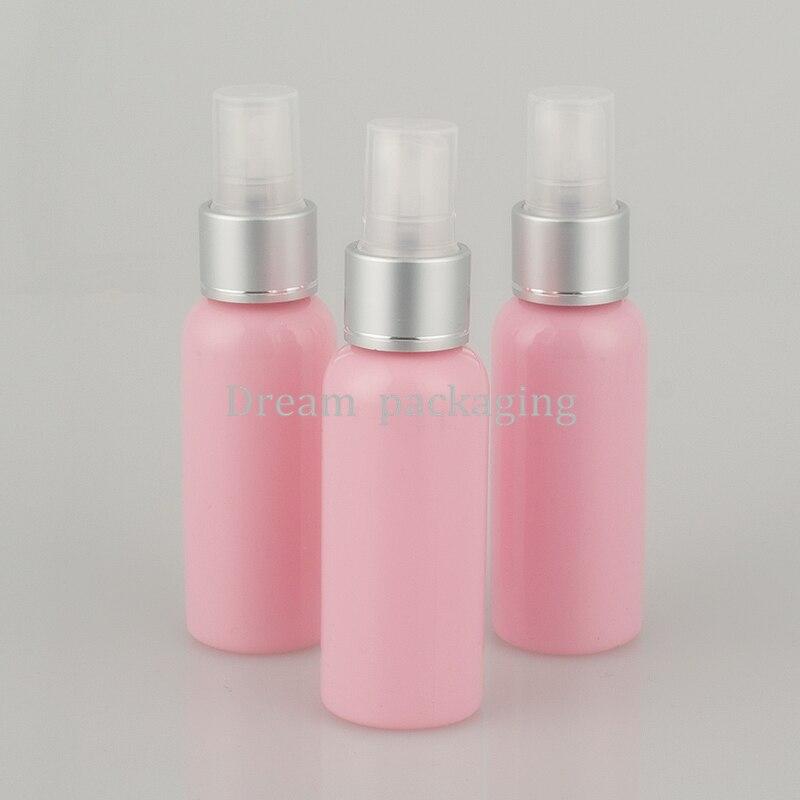 50 stücke 50 ml rosa sprühpumpe reise PET flasche für kosmetische verpackung, 1,7 unze kunststoff leere flaschen für flüssige medizin-in Nachfüllbare Flaschen aus Haar & Kosmetik bei AliExpress - 11.11_Doppel-11Tag der Singles 1