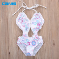 girls one piece swimwear bikini children's swimwear girls bathing suits baby Floral swimming suit girl swimwear beachwear