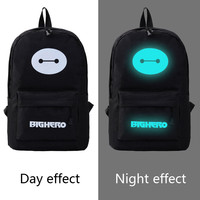 Fondhere 2017 New Night Light Women Men S Backpack Casual Luminous Teenagers Girls Student Cartoon School