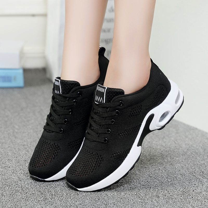 ZHENZU Summer Breathable Mesh Casual Shoes Fashion Sneakers Women Flat Platform Woman Moccasin Zapatos Mujer Ladies Shoes