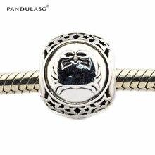 Se adapta a pandora charms original pulsera 925 joyería de plata esterlina gemini star símbolo del grano del encanto diy para las mujeres hombres fl417