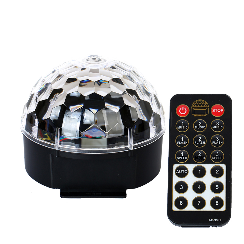 Mini RGB crystal magic ball led stage lights DJ disco party lights infrared remote control Christmas day projector