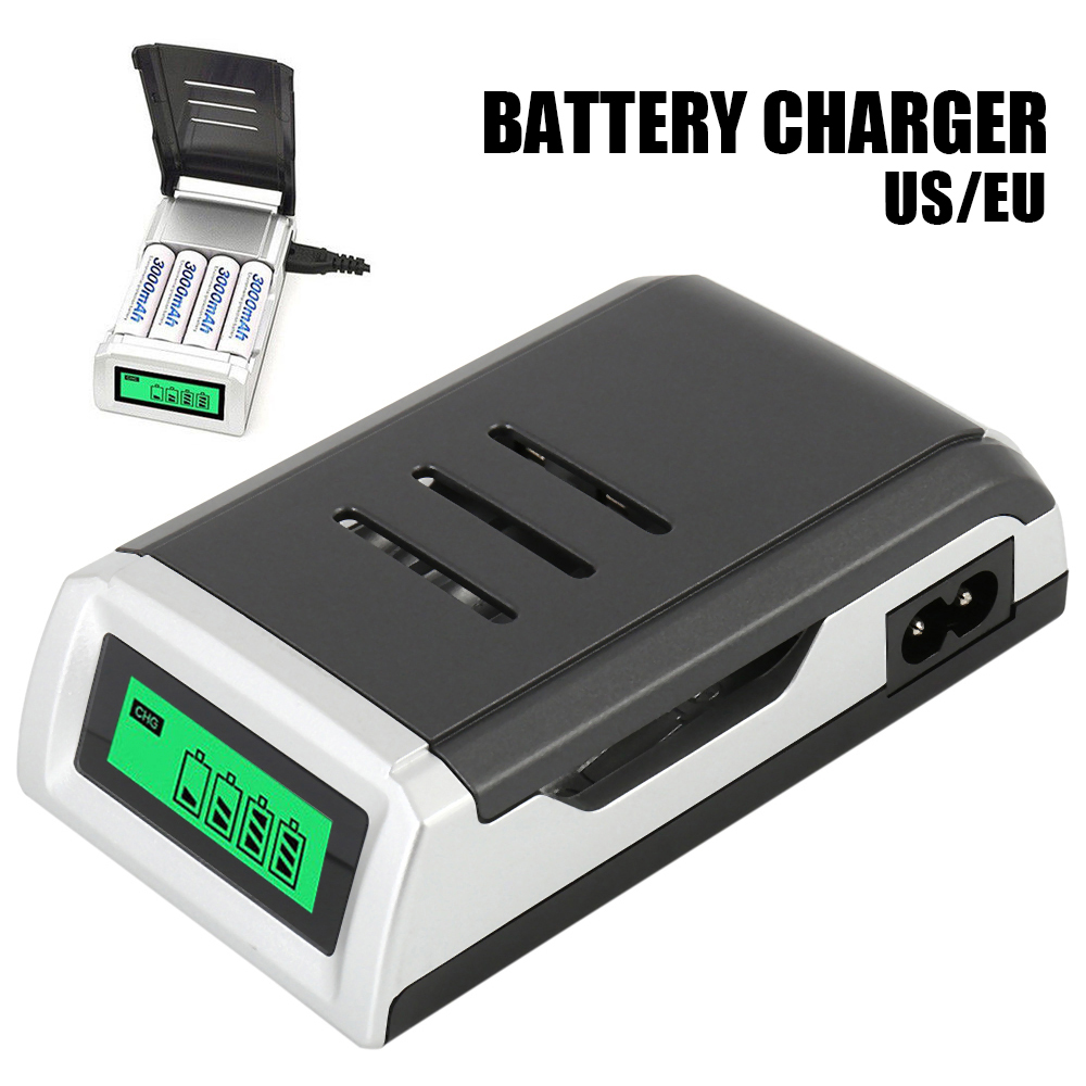 2018 brand new LCD Display With 4 Slots Smart Intelligent Battery Charg