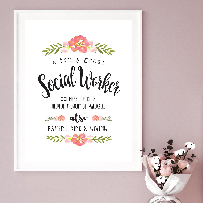 helping profession we can change phrases free Picture Photo Frame Rustic Style The Life of a Social Worker Great Social Worker Gift