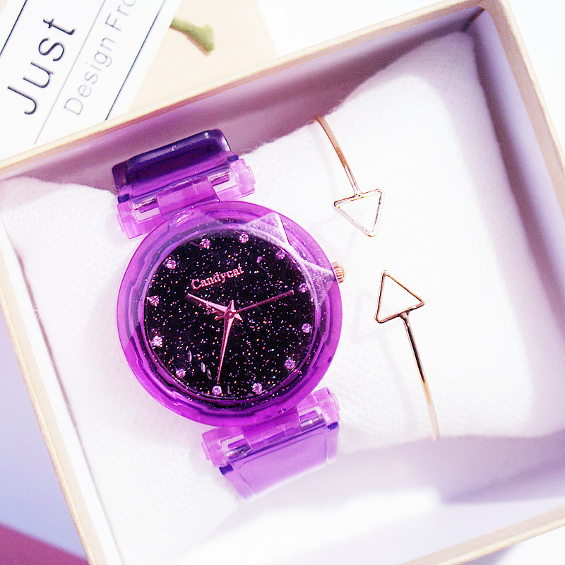 Fashion Cute Children's Watches Girls Watches Kids Candy Color Starry Sky Silicone Student Children Wrist Watches Drop Shipping