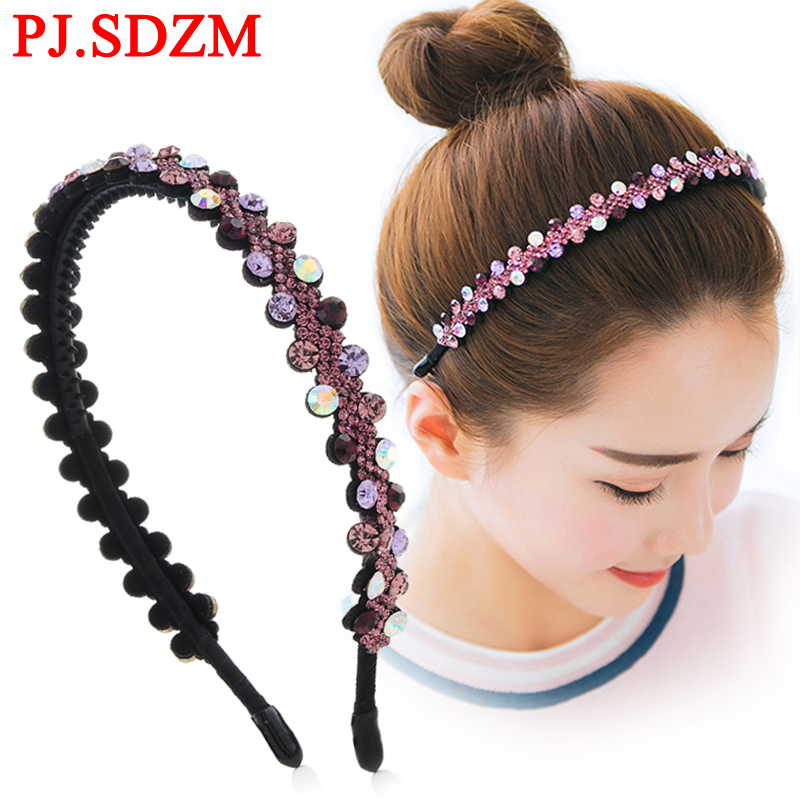 Luxury CZ Crystal HairBands Fashion Women Hair Accessories Fashion Flower Rhinestone Bridal Wedding Headband Girl Headwear women girl bohemia bridal camellias hairband combs barrette wedding decoration hair accessories beach headwear
