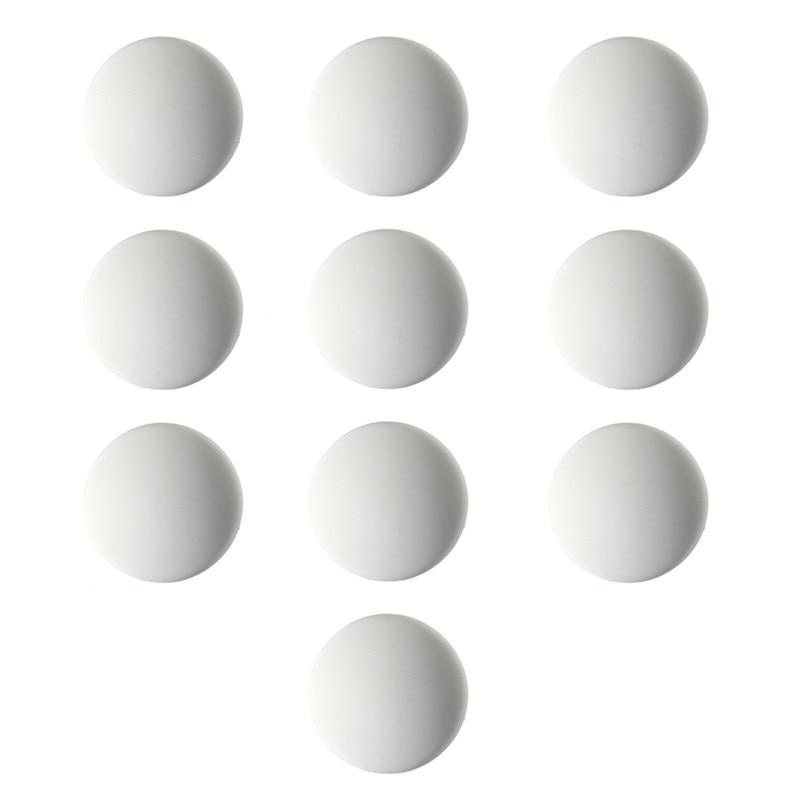MTGATHER 10PCS Door Stops Rubber Wall Protectors Guards Self Adhesive Door Handle Bumper Stoppers Prevent Door Handle White
