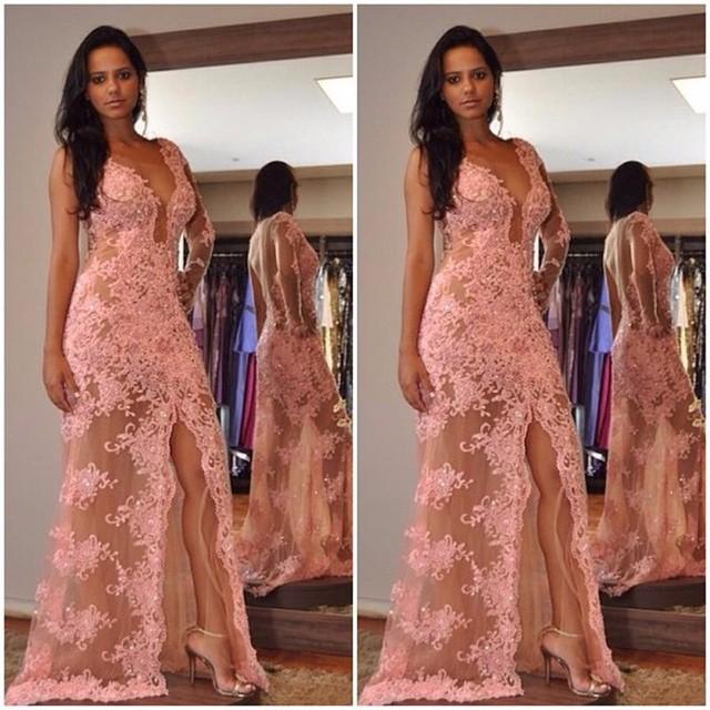 Peach Evening Dress