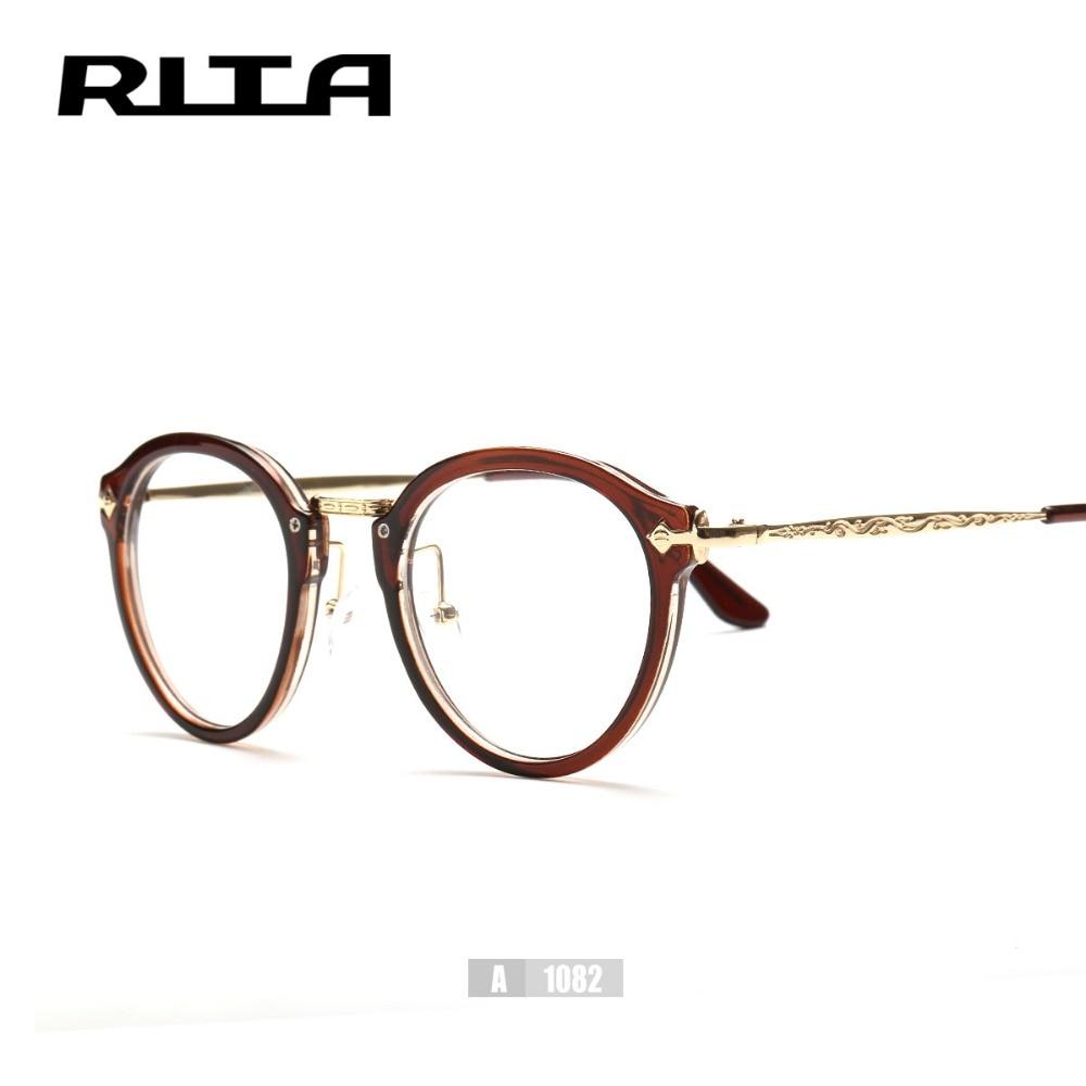 Nueva vogue ronda gafas de marco óptico con estilo lindo para ...
