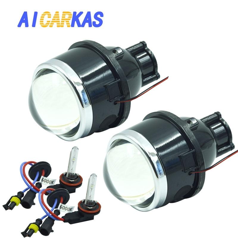 Lentille universelle de projecteur d'antibrouillard de 12 V 35 w 3.0 inch 2.5 inch HID bi-xénon avec la lentille élevée et basse de modification d'ampoule de xénon de 6000 K H11