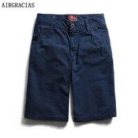 AIRGRACIAS Gorąca Sprzedaży Spodenki Letnie Spodnie męskie 9 Solid Color Casual Krótkie Spodnie Wysokiej Jakości 100% Bawełna Krótkie Spodnie 28-38