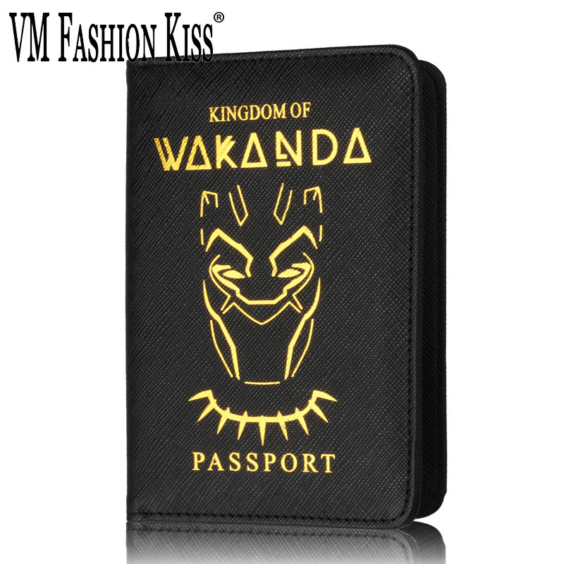 VM FASHION KISS Unisex Wakanda Rfid Blocking Passport Set Pu Leather Multifunctional Passport Case Holder Cards Travel Essential monopoly multifunctional polyethylene travel passport cards storage bag deep pink page 3