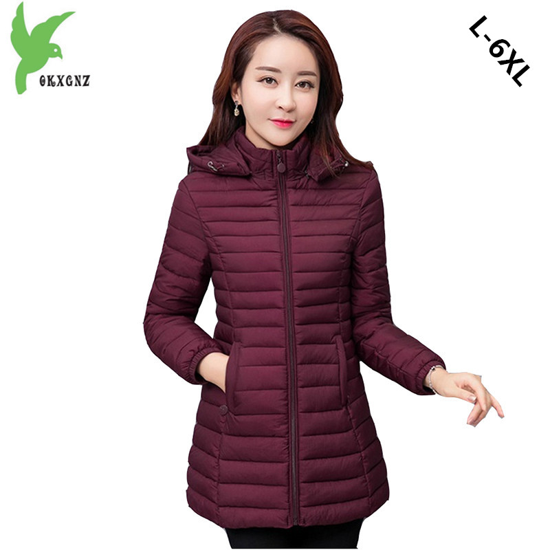 New Winter Women Down Cotton Jackets Fashion Hooded Casual Tops Plus Size Solid Color Slim Outerwear Keep Warm Coats OKXGNZ A797 winter women s cotton jackets new fashion hooded warm coats solid color thicker casual tops plus size slim outerwear okxgnz a735