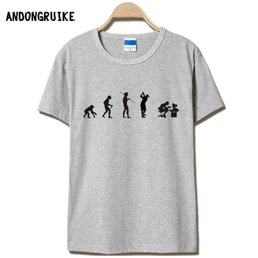 Evolution Of The T Shirt Men Casual Short Sleeve T Shirt O