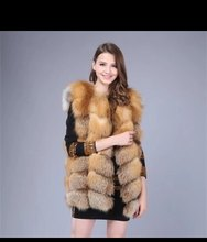 real   red  fox   natural  fur vest