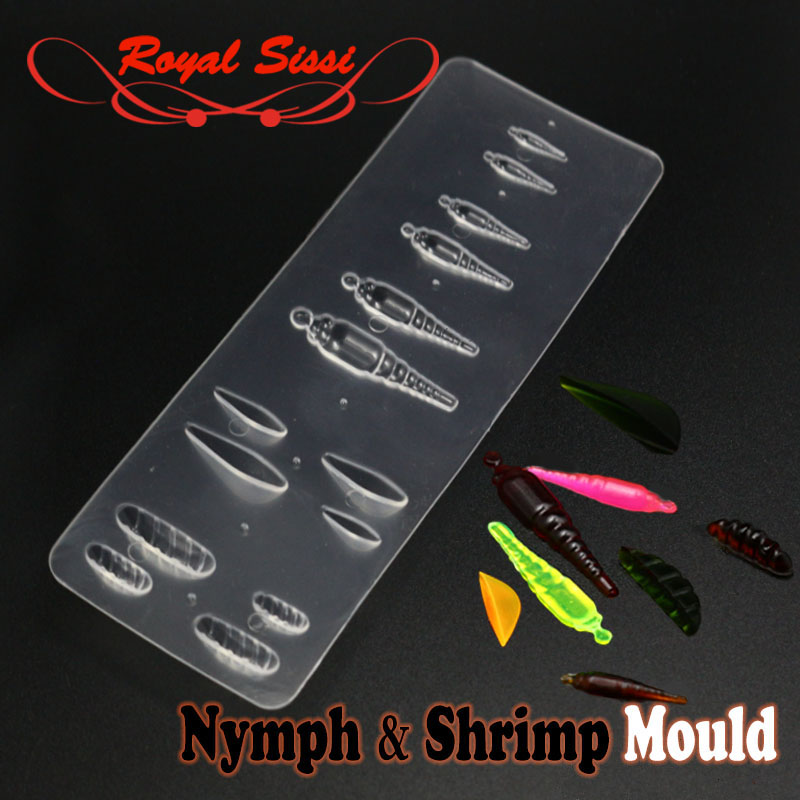 2019hot One Plate Of Nymph &shrimp Shape Intergrated Fly Tying UV Resin Mould Gammarus Segmental Bug Bond Mould Fly Tying Tools
