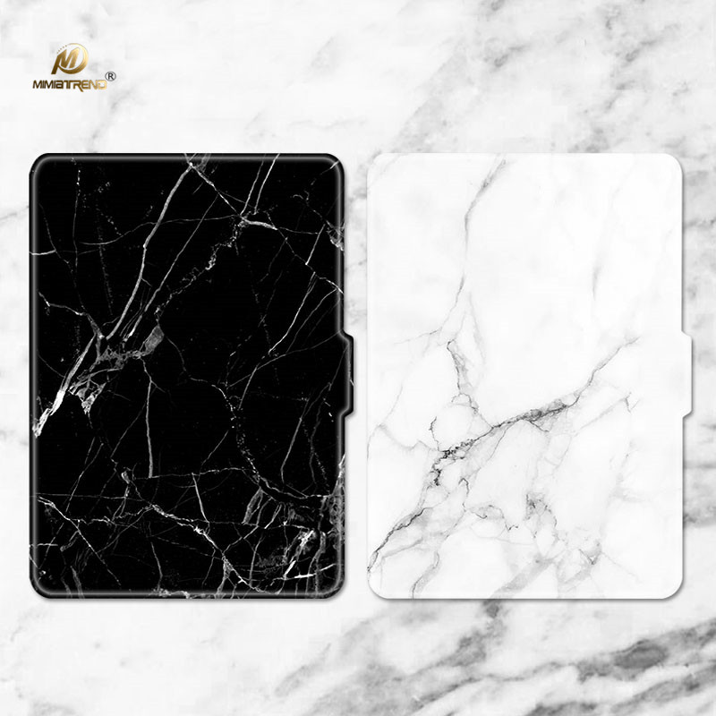Mimiatrend White Marble Grain Kindle Paperwhite Case, Slim Leather Cover for Kindle Paperwhite2013 2015 2016 6th generation Gift pu leather ebook case for kindle paperwhite paper white 1 2 3 2015 ultra slim hard shell flip cover crazy horse lines wake sleep