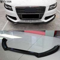 A4 B8 carbon fiber front lip for Audi A4 B8 standard car body kit 09 12