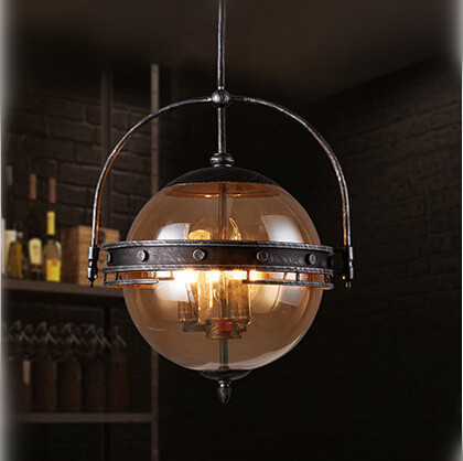 Vintage Industrial Loft Style Pendant Lights Glass Lampshade Droplight Creative Hanglamp Fixtures For Home Lightings Cafe Foyer vintage loft edison pendant lights metal droplight creative hanglamp fixtures for home lightings cafe bar lamparas colgantes