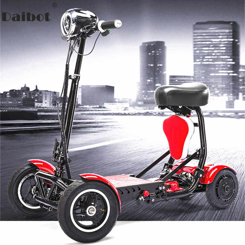 Daibot Electric Scooter For Disabled Four Wheel Electric Scooters Double Drive 250W*2 Folding Electric Scooter For Elderly
