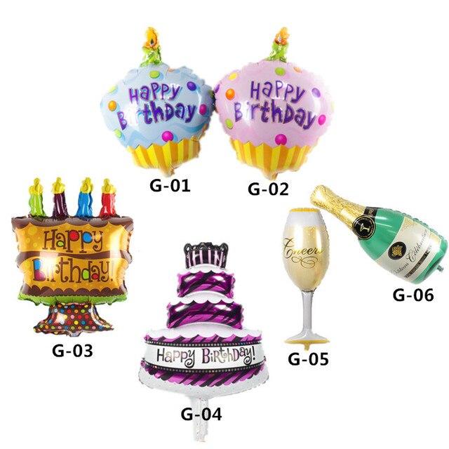 unidslote feliz cumpleaos globo de la hoja de mini pastel de cumpleaos globos with decoracion de cumpleaos con globos